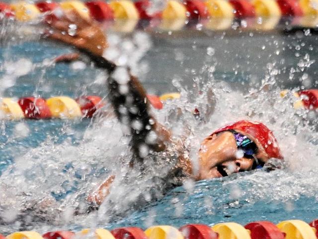 競泳・兵庫県通信大会 女子15・16歳100メートル自由形 片山が順調な成長ぶり