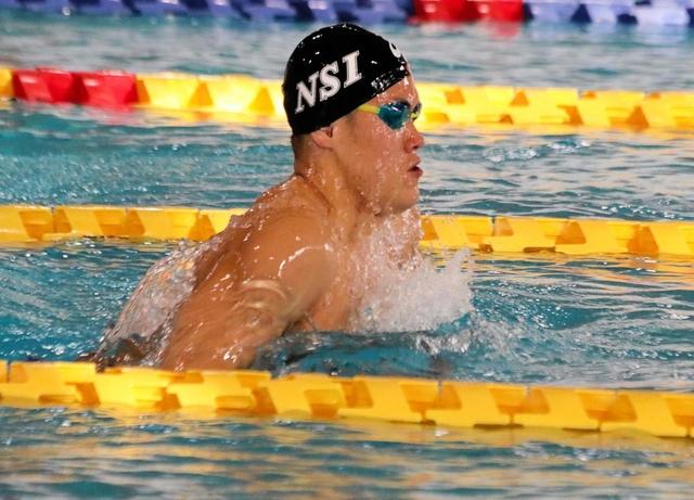 競泳・兵庫県短水路選手権 西尾が4連覇 男子200m平泳ぎ