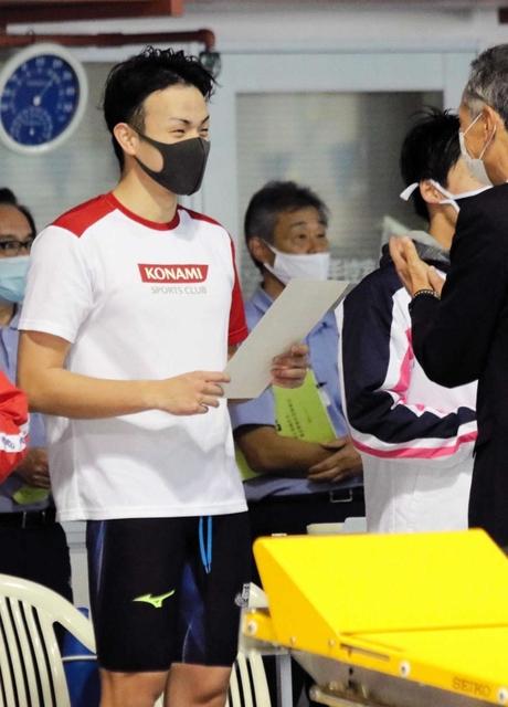 競泳・兵庫県短水路選手権 男子100背の金本、後半粘って快記録